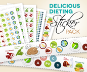 Delicious Dieting Sticker Pack